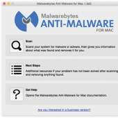 Malwarebytes Anti-Malware Mac 1.1.3.72 screenshot